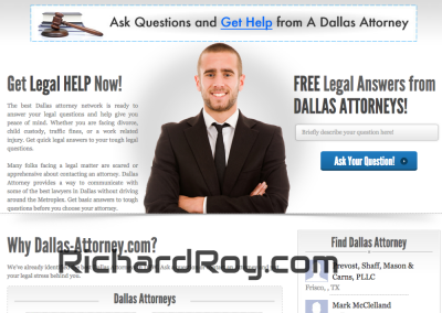 Dallas Attorney WordPress Website