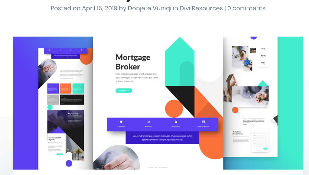 Mortgage Broker Layout Divi